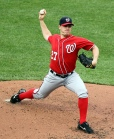 Washington Nationals starting pitcher Jordan Zimmermann (27)